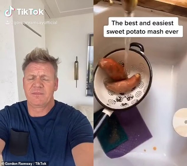The 53-year-old, who is currently living in Cornwall, initially appeared aghast by the home chef's attempts to wash and clean his sweet potatoes