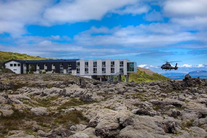 The hotel, in the town of Selfoss, rose phoenix-like from the ashes of an abandoned inn