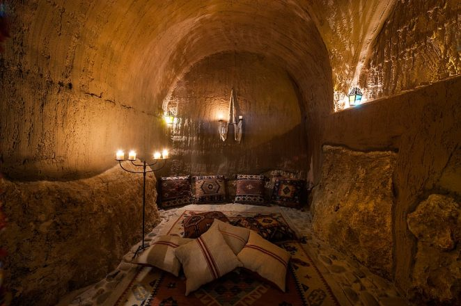 The property is a magical medieval-style retreat – where candles are the main source of lighting