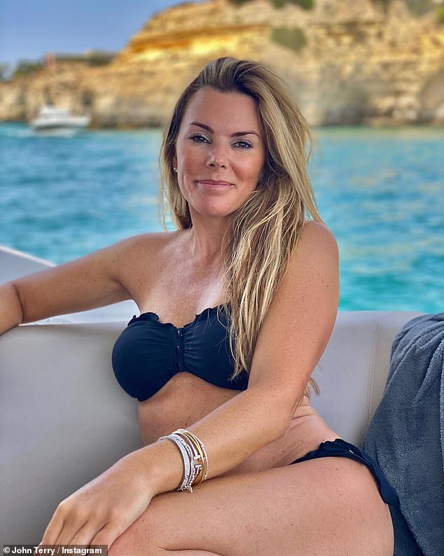 Stunner:John and Toni Terry were not letting the rules get them down as they soaked up the sunshine while posting on Instagram on Friday