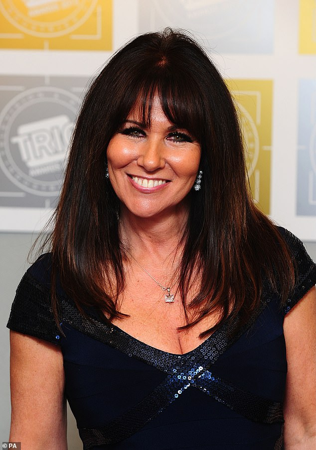 Lasting impact: Linda Lusardi has revealed she is still feeling the effects of coronavirus and her hair has started to fall out