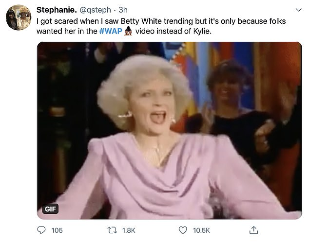 A Betty choice? Betty White started trending on Twitter Thursday evening after some thought the Golden Girls star would have made a stronger cameo than Kylie Jenner