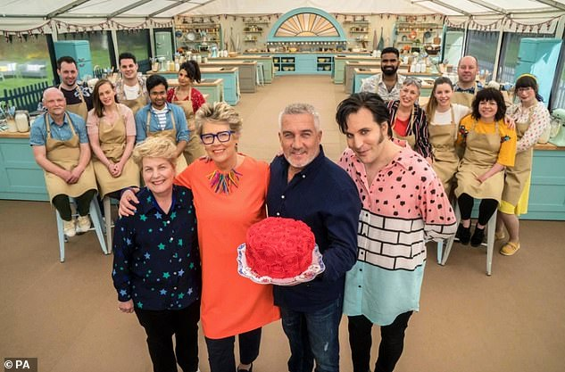 Back to work: The Great British Bake Off resumed filming in July after coronavirus delay
