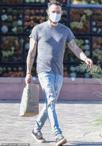 Brian Austin Green masks up to stock up on groceries at Whole Foods