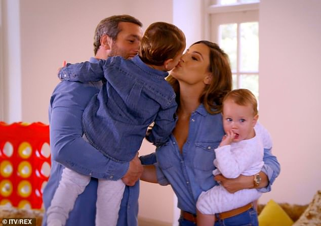 Family matters: The reality show follows the life of the mother-of-two alongside her husbandPaul and their children, Paul Jr, four, and Rosie, two,