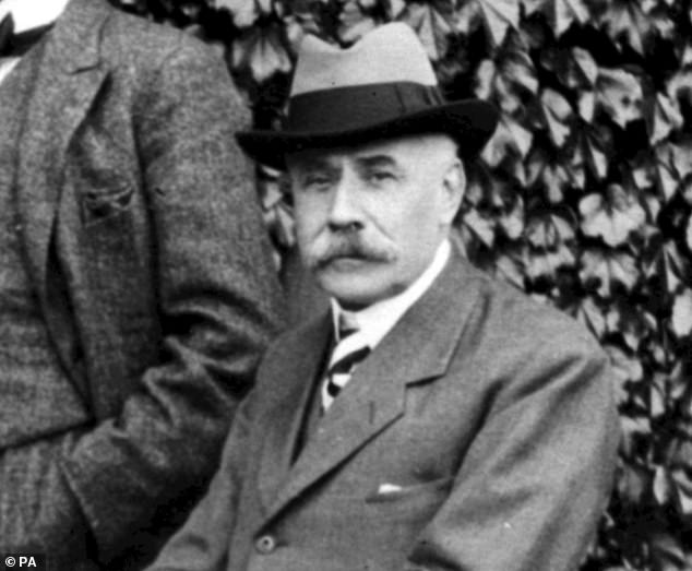 A respected art critic has suggested that the 'hidden melody' in Sir Edward Elgar's beloved Enigma Variations is the Welsh song Men of Harlech (file photo of Elgar, pictured)