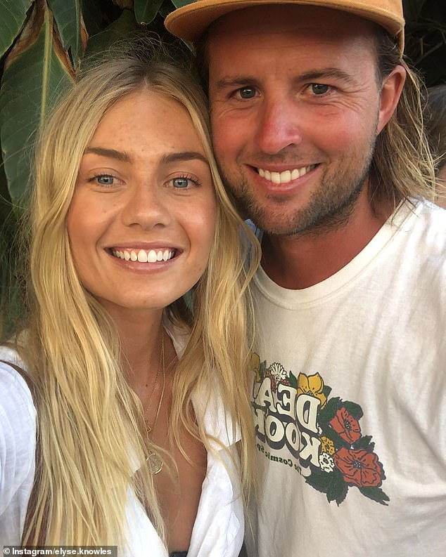 Property power couple: Elyse Knowles and her boyfriend Josh Barker [pictured] have put their South Melbourne rental pad back on the market
