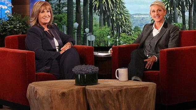 Future: Network Nine have axed Ellen's self-isolation episodes and are screening reruns of the show. Pictured Ellen and A Current Affair hostTracy Grimshaw
