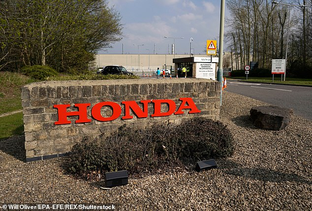 Depots at Honda (pictured) and Royal Mail also saw small outbreaks after lockdown restrictions eased