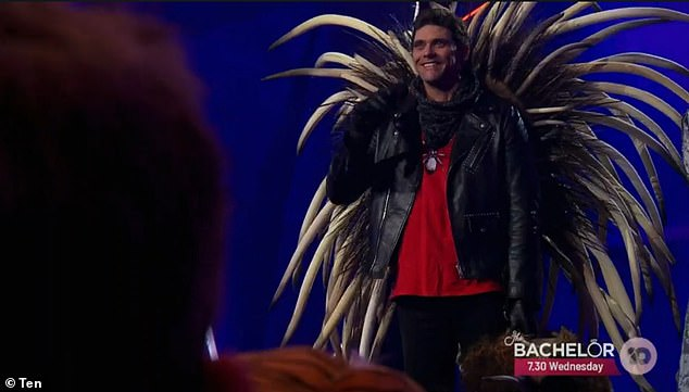 Wow!Behind the mask was a sportsman with a surprisingly smooth voice - none other than tennis champion Mark Philippoussis (pictured)