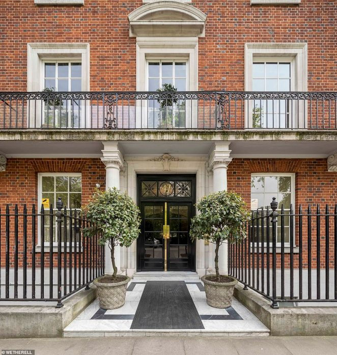 The palatial former home of the Onassis family in London's Mayfair was up for sale with a price tag of £25 million but sold in 24 hours for £18.6million