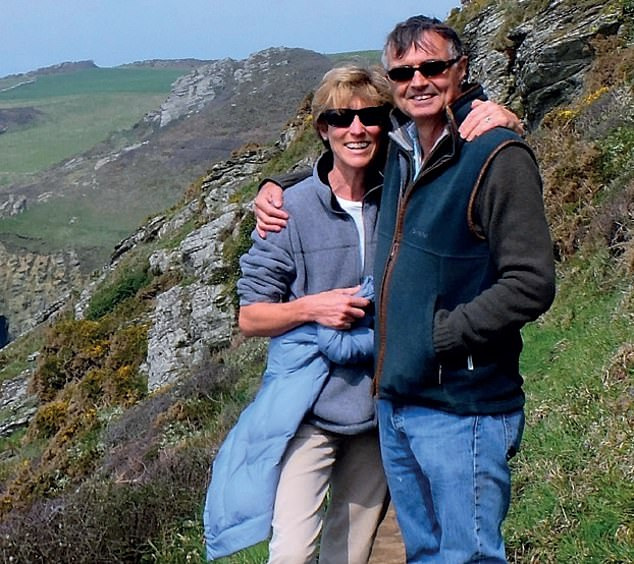 Mr May's (pictured with wife Jill) cancer has shrunk and has undergone a complete metabolic response to the drug