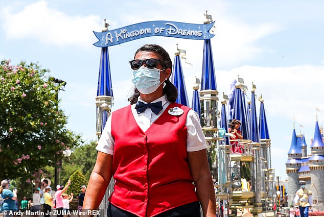Just one week after reopening, Disney updated its policies banning guests from drinking or eating while walking through parks to prevent people taking off their face masks