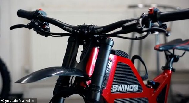 New: Simon was testing his new bike when he accidentally fell and broke his back (image of the Swind EB-01)