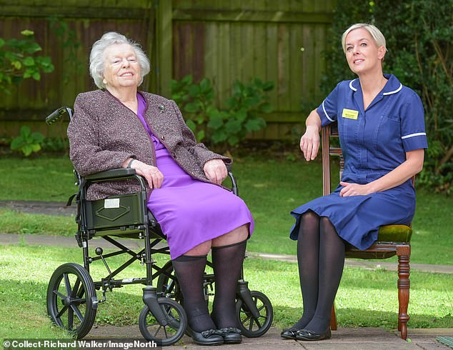 Nora, who started nursing during World War II, met Nicola while in hospital recently with hip problems