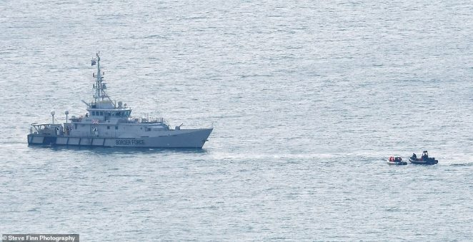 A Border Force ship is dispatched to rescue a migrant boat caught in the Channel this morning, before being brought into harbour