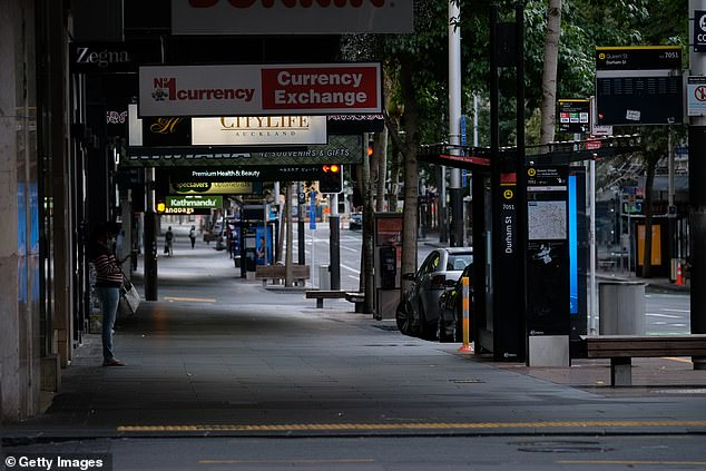 Queen Street in the Auckland CBD was deserted durung the last COVID-19 virus lockdown in March