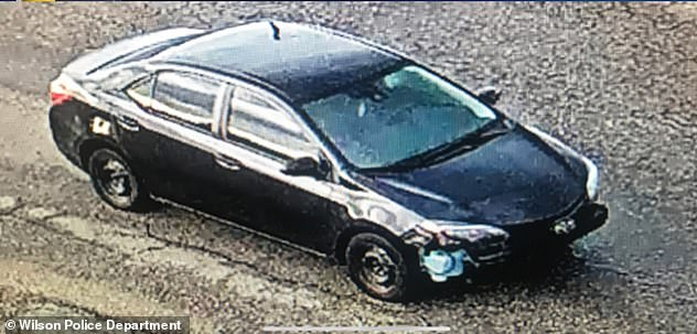 Sessoms fled in this car but was apprehended by authorities 24 hours later