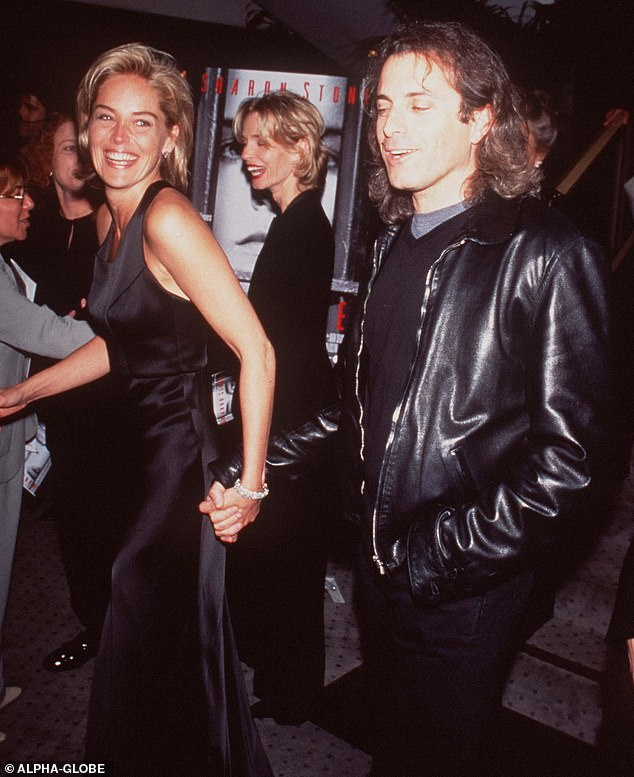 Her love:The book will cover her first marriage to Michael Greenburg (1984 to 1987). Here they are seen in 1996 at the Last Dance premiere with her friend Mimi Craven in the background