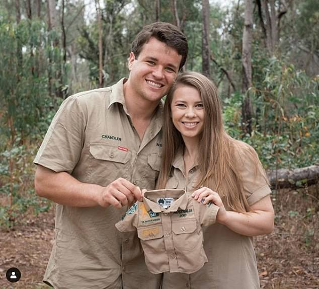 Baby on board!The anniversary of Steve's death comes as the Irwin family awaits the arrival of Bindi Irwin's (left) first child with her husband, Chandler Powell (right)