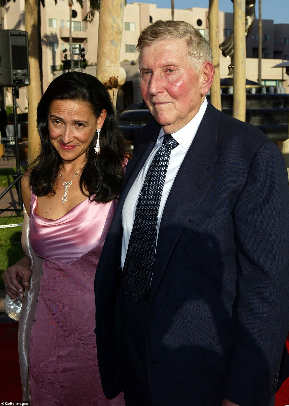 Summer Redstone and second wife Paula Fortunato are seen together in 2004 in North Hollywood, California