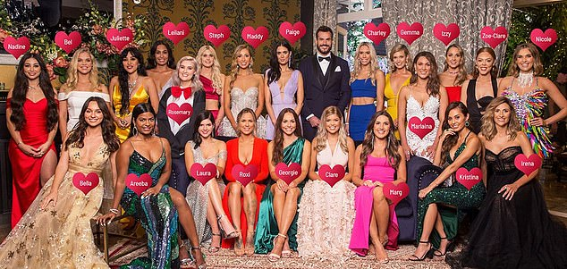 Stay tuned! The Bachelor continues Thursday at 7.30pm on Channel 10 (cast pictured)