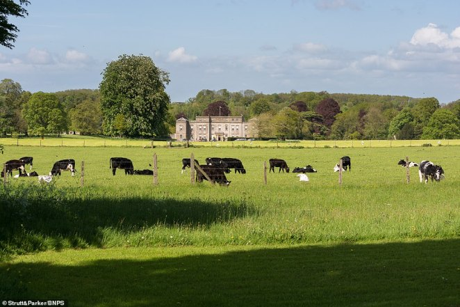 The grounds cover 28.4 acres with the River Norr running through it. The formal gardens are impressive with a rose garden, cutting garden, kitchen garden, an orchard and a tennis court