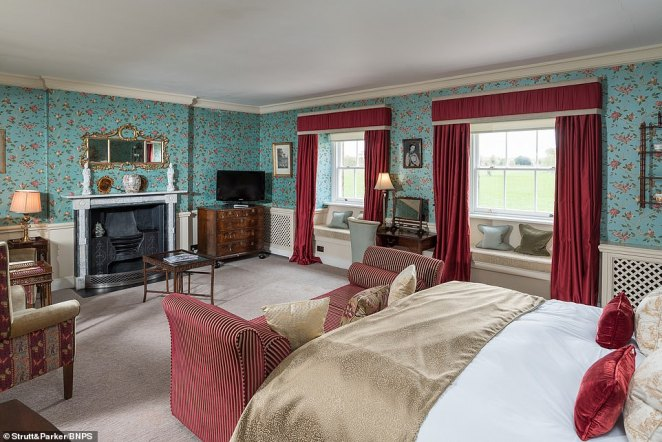 Rees-Mogg's father William bought the country manor (a bedroom pictured) in 1964 and the Somerset MP - who was born in 1969 - spent around nine years of his life there