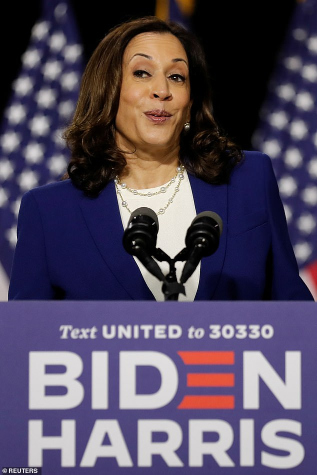 `` There is' a reason it hit America worse than any other advanced nation, it's because of Trump's inability to take it seriously from the start, '' the Senator Kamala Harris in Wilmington.