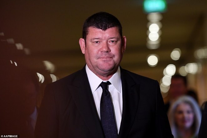 James Packer (pictured) was estimated to be worth $3.6billion in January - making him Australia's ninth richest person