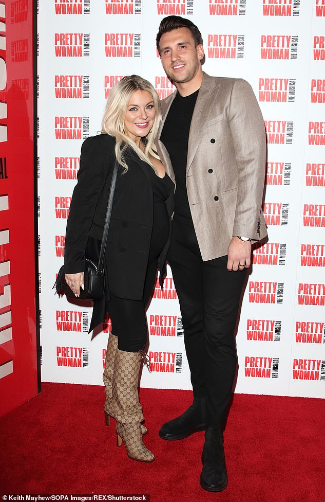 Close: Sheridan has been open about struggling with her mental health following the death of her father Colin in 2016 (pictured with Jamie in March)