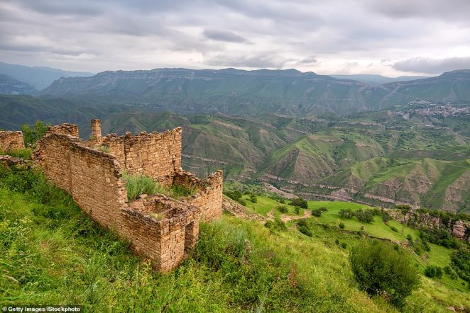 Namesake: The village ofGamsutl is nicknamed the 'Machu Picchu of Dagestan'