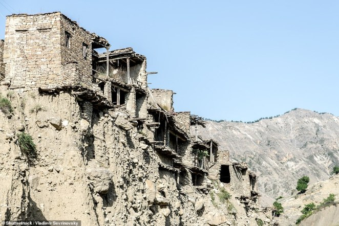 Koroda is located at 4,920ft (1,500m) above sea level and is surrounded by dramatic cliffs