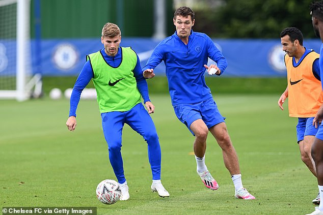 Chelsea have already snapped up Havertz's Germany team-mate Timo Werner (left)