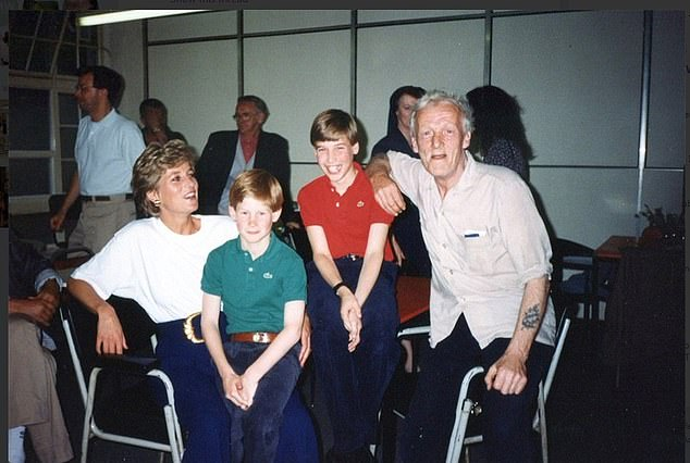 Princess Diana took Prince William and Harry to homeless shelters in the hope they would have a lifelong passion for charity work and activism, a new documentary has revealed. This image shows William and Harry with their mother at a homeless centre in 1994