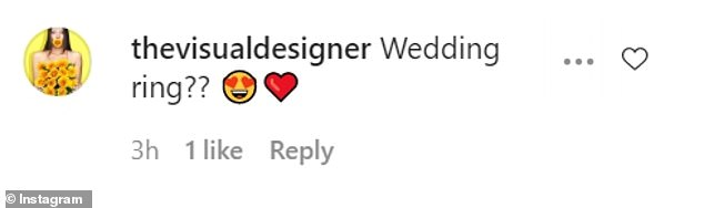 Reaction: The post was quickly inundated with comments from curious fans who wanted to know if the couple were already married