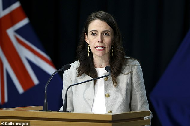 New Zealand (Prime Minister Jacinda Ardern pictured) reported seven new coronavirus cases on Saturday morning and has recorded a total of 56 active cases of COVID-19
