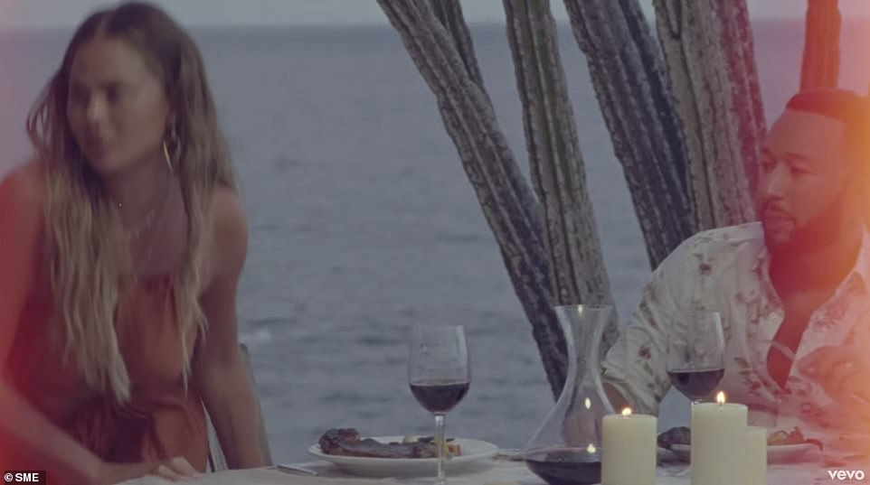 Trouble in paradise: Despite the ultra romantic destination, the music video is not without some conflict
