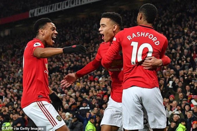 Anthony Martial (left), Mason Greenwood (middle) and Marcus Rashford (right) had been nominated for the award but lost out to the full-back after he was key in their title win
