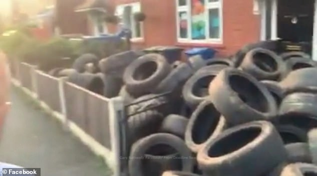 He used a dump truck to take more than 400 tyres left on his land back to the house of the alleged fly tipper