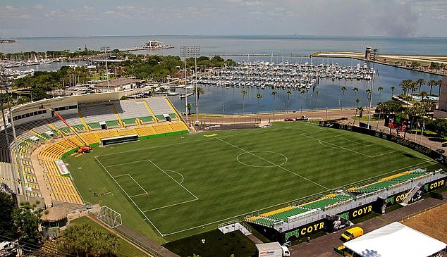 The Al Lang Stadium in Tampa, where Neja was holed up for more than two weeks