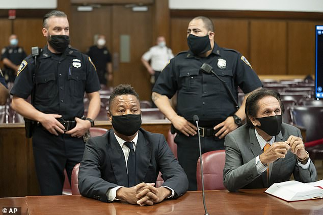 Represented by: Gooding Jr. sat at the defense table with his lawyer Marc Heller, during a hearing in his sexual misconduct case