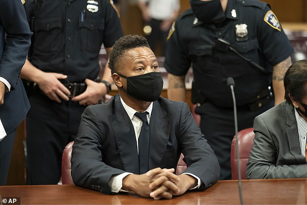 In court:Gooding Jr is facing six groping charges over three alleged incidents which occurred in 2018 and 2019