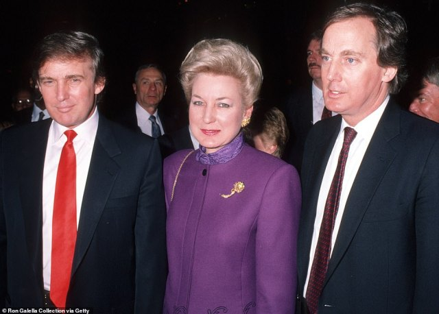The 72-year-old was previously hospitalized for a week at Mount Sinai Hospital New York in June. He is pictured right with sister Maryanne and brother Donald in 1990