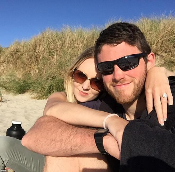 Undated handout file photo issued by Thames Valley Police of 28-year-old PC Andrew Harper and his wife, Lissie
