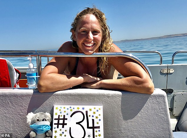 The 35-year-old plans to swim to France tomorrow, but must reach land for her 21-mile journey to count as an official cross-Channel trip