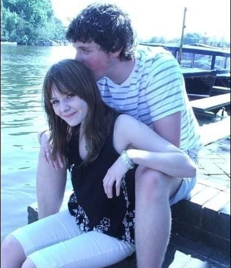Water babes: The young lovers show how close they are on a trip to the Thames in Henley, aged 17