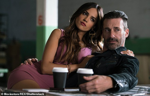 Suave: Hehas since proved himself to be a versatile performer thanks to roles in Spy, Million Dollar Arm and Baby Driver (seen here, with Eiza Gonzalez)