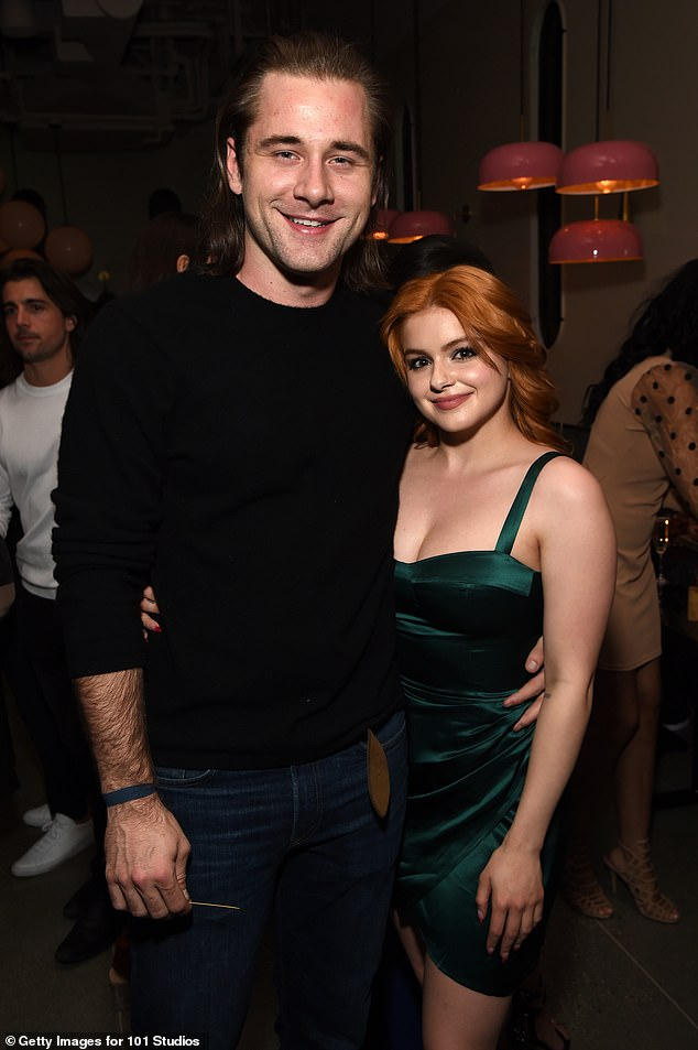 Loved up:Ariel has been been dating Luke since December of 2019, but she did not confirm her relationship with the actor until April; Luke and Ariel pictured in February