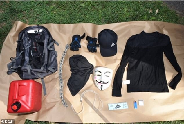 Police found an abandoned backpack containing the clothes and equipment Resto wore